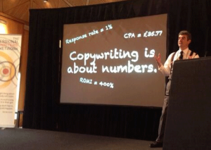 """Copywriting is about numbers."" - Andy MaslenPhoto by Tom Albrighton"